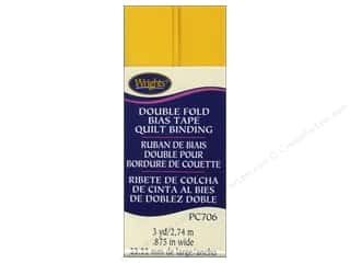 Wrights Double Fold Quilt Binding - Yellow 3 yd.