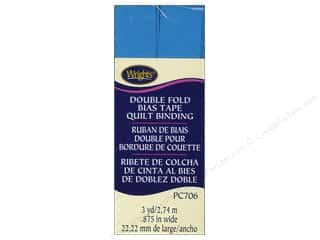 sewing & quilting: Wrights Double Fold Quilt Binding 3 yd. Porcelain Blue