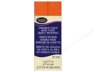 Wrights Double Fold Quilt Binding 3 yd. Orange Peel