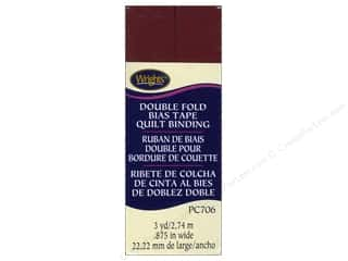 Wrights Double Fold Quilt Binding 3 yd. Ox Blood