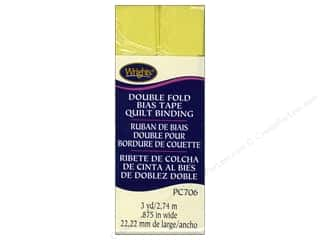 sewing & quilting: Wrights Double Fold Quilt Binding 3 yd. Citron