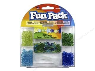 beading & jewelry making supplies: Cousin Fun Pack Bead Kit - Blue & Green Star with Cord