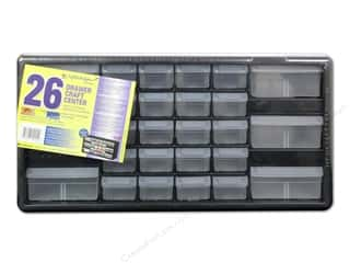 Weekly Specials Scrapbooking Organizers: Craft Design Craft Center Organizer 26 Drawer Black