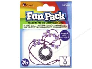 Weekly Specials Perler Beads: Cousin Fun Pack Kit Bead Necklace Leopard Purple