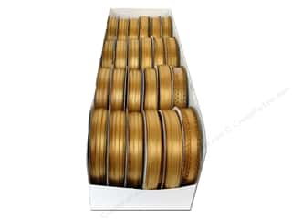 scrapbooking & paper crafts: Offray Spool-O-Ribbon Double Face Satin Old Gold (24 spools)