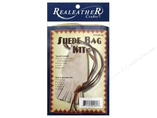 Projects & Kits: Silver Creek Leathercraft Kit Suede Fringed Pouch