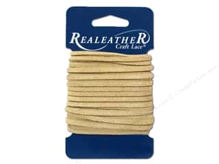 craft & hobbies: Silver Creek Suede Lace 1/8 in. x 8 yd. Beige