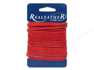 Silver Creek Suede Lace 1/8 in. x 8 yd. Red