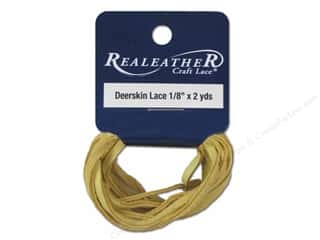 craft & hobbies: Silver Creek Deerskin Lace 1/8 in. x 2 yd. Buckskin