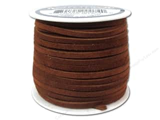 craft & hobbies: Silver Creek Suede Lace 1/8 in. x 25 yd. Medium Brown