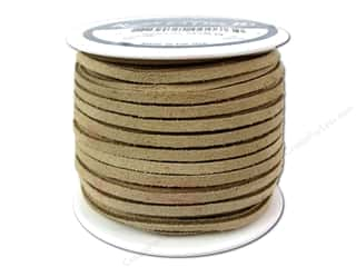 Silver Creek Suede Lace 1/8 in. x 25 yd. Beige