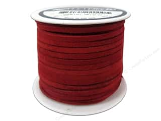 craft & hobbies: Silver Creek Suede Lace 1/8 in. x 25 yd. Red