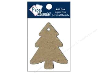 scrapbooking & paper crafts: Paper Accents Chipboard Shape Tree Tag 8 pc. Natural