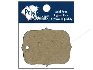 scrapbooking & paper crafts: Paper Accents Chipboard Shape Marquee #4 Tag 12 pc. Natural