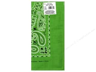 Scarf / Scarves: Darice Bandana 22 x 22 in. Lime Paisley