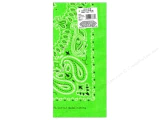 Scarf / Scarves: Darice Bandana 22 x 22 in. Neon Green Paisley