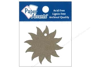 Paper Accents Chipboard Shape Starburst Tag 12 pc. Natural