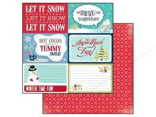Winter Wonderland Printed Cardstock: Echo Park 12 x 12 in. Paper Keepin' Cozy Collection Let It Snow (25 sheets)