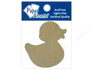 Holiday Sale Paper Accents Chipboard Shapes: Paper Accents Chipboard Shape Rubber Duck 8 pc. Kraft