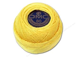 yarn & needlework: DMC Tatting Cotton Size 80 # 744 Pale Yellow (10 balls)
