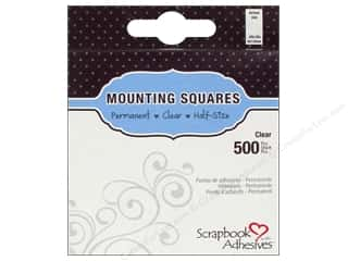 scrapbooking & paper crafts: 3L Scrapbook Adhesives Mounting Squares 500 pc. Half-size Clear