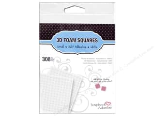 foam squares: 3L Scrapbook Adhesives 3D Foam Squares 308 pc. 1/4 in. White