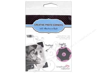 photo corner paper punch: 3L Scrapbook Adhesives Photo Corners Paper 108 pc. Black