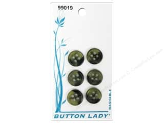JHB Button Lady Buttons 1/2 in. Olive & Black #99019 6 pc.