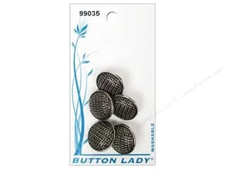 JHB: JHB Button Lady Buttons 5/8 in. Antique Silver #99035 5 pc.