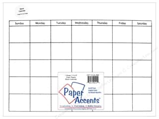 Paper Accents Plastic Calendar Page 11 x 14 in. Clear 1 pc.