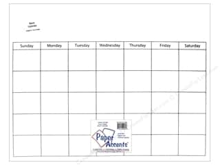 Paper Accents Plastic Calendar Page 16 x 20 in. Clear 1 pc.