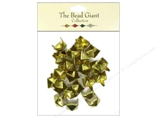 craft & hobbies: The Bead Giant Collection Nailhead Pyramid 3/8 in. Gold 26 pc.