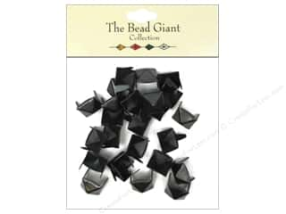 craft & hobbies: The Bead Giant Collection Nailhead Pyramid 3/8 in. Black 26 pc.