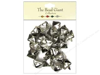 Clearance: The Bead Giant Collection Nailhead Pyramid 1/2 in. Silver 22 pc.