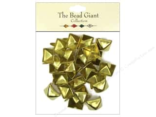 craft & hobbies: The Bead Giant Collection Nailhead Pyramid 1/2 in. Gold 22 pc.