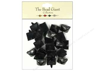 craft & hobbies: The Bead Giant Collection Nailhead Pyramid 1/2 in. Black 22 pc.