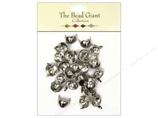craft & hobbies: The Bead Giant Collection Nailhead Cone 3/8 in. Silver 28 pc.