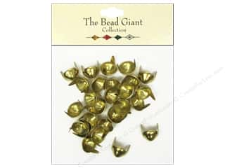 Clearance: The Bead Giant Collection Nailhead Cone 3/8 in. Gold 28 pc.