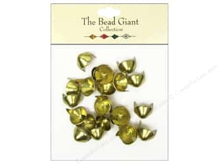 craft & hobbies: The Bead Giant Collection Nailhead Cone 7/16 in. Gold 24 pc.
