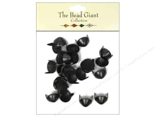 craft & hobbies: The Bead Giant Collection Nailhead Cone 7/16 in. Black 24 pc.