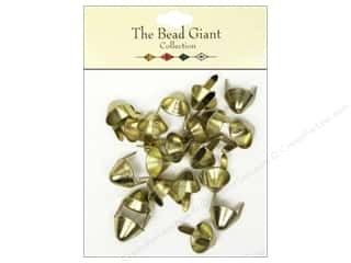 Clearance: The Bead Giant Collection Nailhead Spike Medium Gold 20 pc.