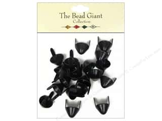 Clearance: The Bead Giant Collection Nailhead Spike Medium Black 20 pc.