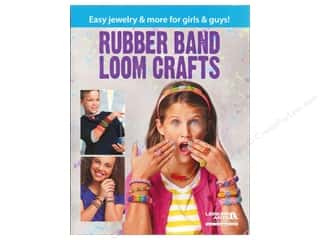 beading & jewelry making supplies: Leisure Arts Rubber Band Loom Crafts Book