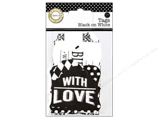 gifts & giftwrap: Canvas Corp Printed Tags Black On White