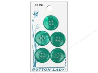 JHB Button Lady Buttons 3/4 in. Green #99194 5 pc.