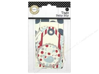 scrapbooking & paper crafts: Canvas Corp Printed Tags Baby Boy
