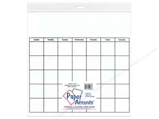 Erasers: Paper Accents Magnetic Calendar Page 12 x 12 in. Dry Erase White