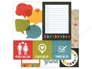 Simple Stories: Simple Stories 12 x 12 in. Paper Daily Grind Quotes & Photo Mats (25 sheets)