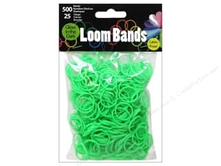 Best of 2013 Midwest Design Loom Bands: Midwest Design Loom Band Glow In Dark Green 525pc