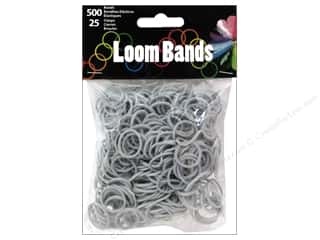 Best of 2013 Midwest Design Loom Bands: Midwest Design Loom Bands 525 pc. Silver